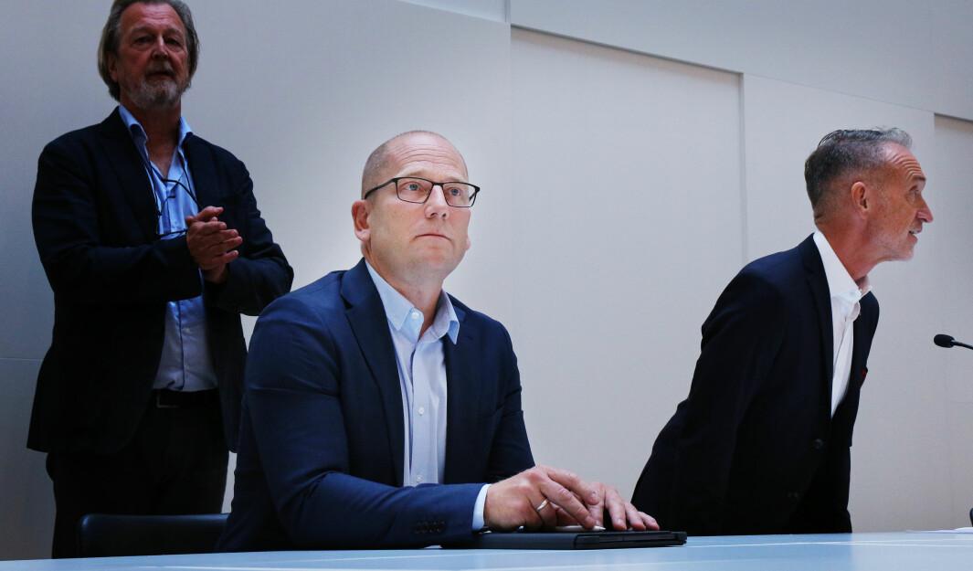 Steffen Handal i Utdanningsforbundet og Tor Arne Gangsø i KS.