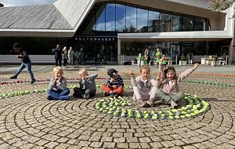 I Vennesla fikk barnehagebarna dekorere sentrum