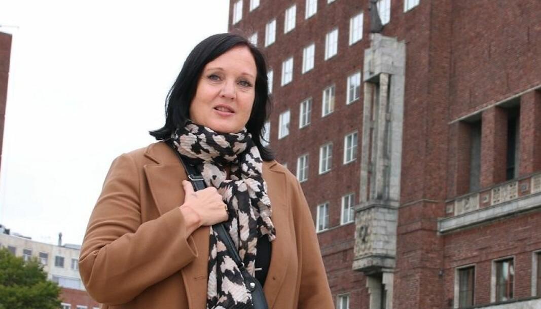 Forhandlingsleder Aina Skjefstad Andersen i Unio Oslo. .