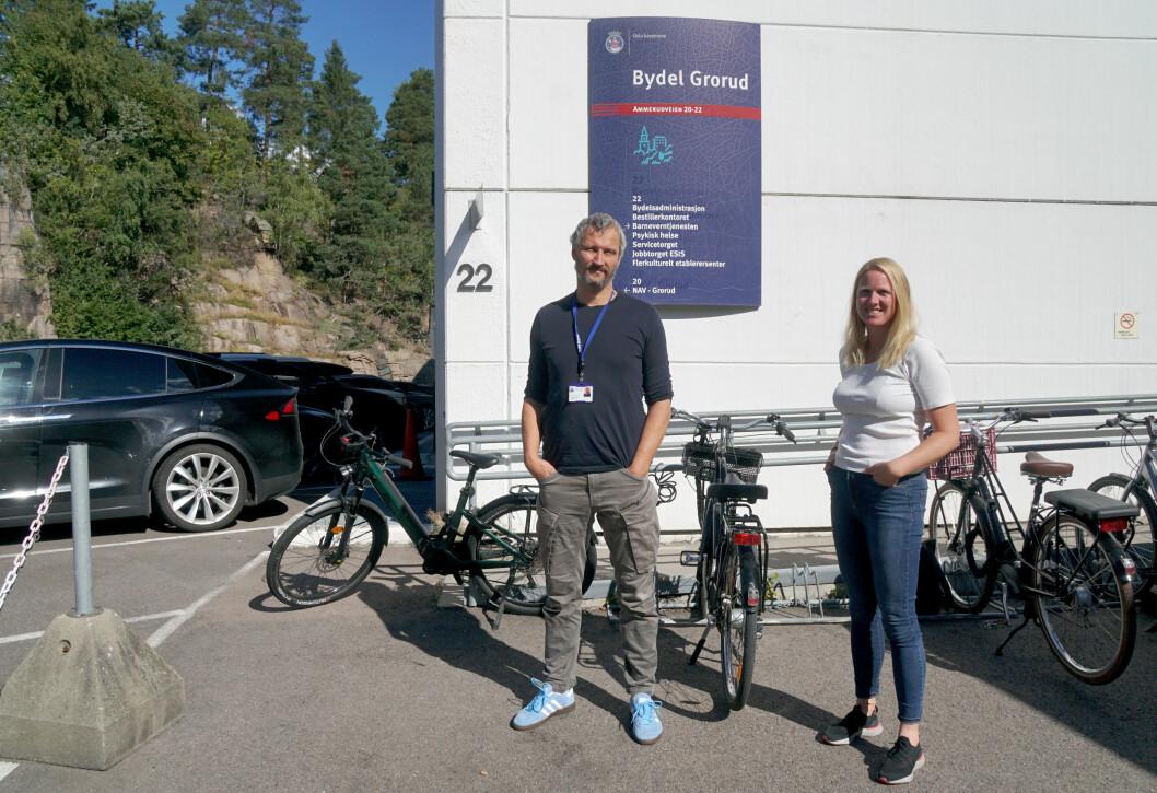 Sammen skal Jarle Dukic Sandven og Kristine Hovland bidra til å trygge hverdagen for elevene i bydel Grorud.