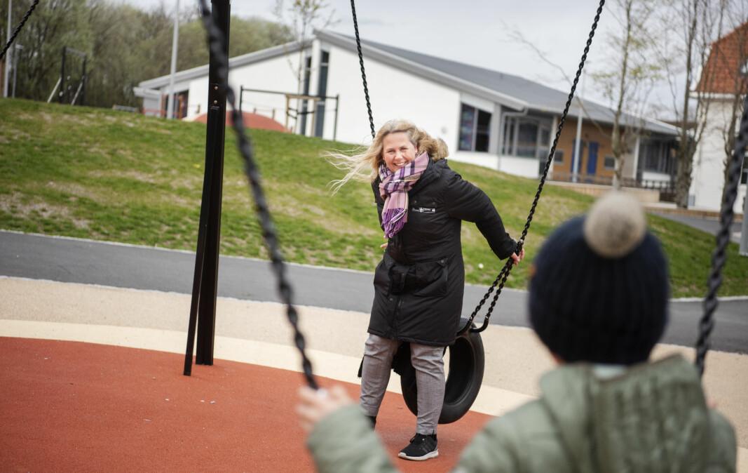 SFO-leder Mona Skaaren ved Jåtten skole er godt nøgd med grepa dei har gjort ved skulefritidsordninga.
