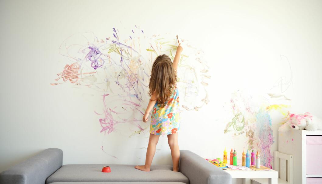 NY FORSKNING: Under halvparten av barnehagene sier de jobber ganske mye med kunst, kultur og kreativitet i barnehagen, viser studie