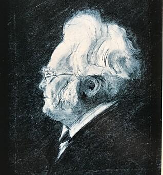 Vebjørn Sand lagde denne tegningen av Bjørnstjerne Bjørnson da han var 12 år gammel.