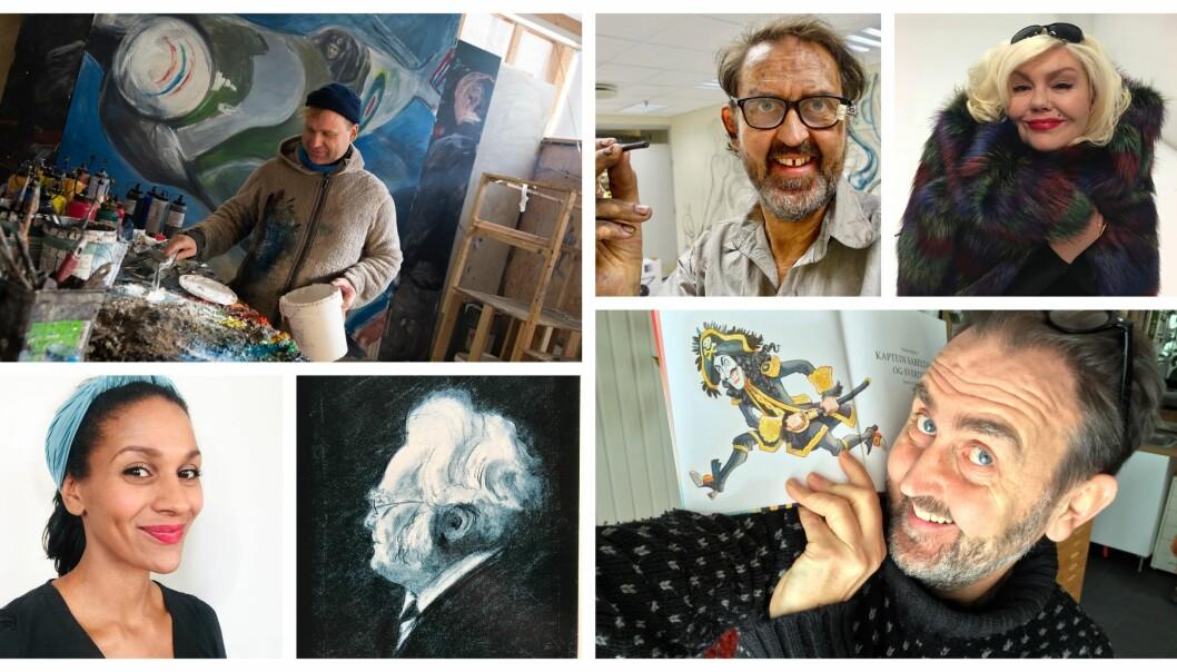 Kunstnerne Vebjørn Sand, Svein Nyhus, Unni Askeland, Lisa Aisato og Egil Nyhus forteller hva som var avgjørende i barndommen for at de kunne utfolde seg kunstnerisk.