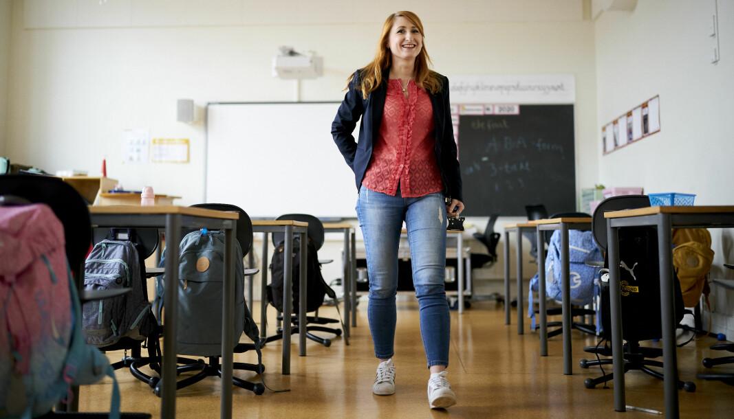 Silje Leistad Sagstuen er lærer ved Bispehaugen skole i Trondheim, men veien dit var lang. – Fineste skolen i byen, sier Sagstuen.
