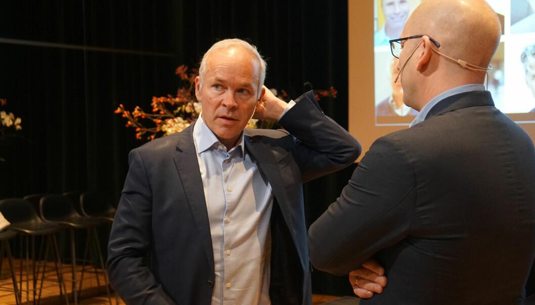 Steffen Handal møtte finansminister Jan Tore Sanner og flere regjeringsmedlemmer tirsdag.