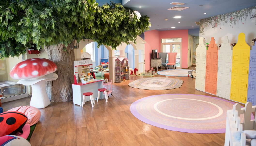 Den  eksklusive barnehagen har spesialbestilte leker og møbler fra Portugal, Tyskland og USA.