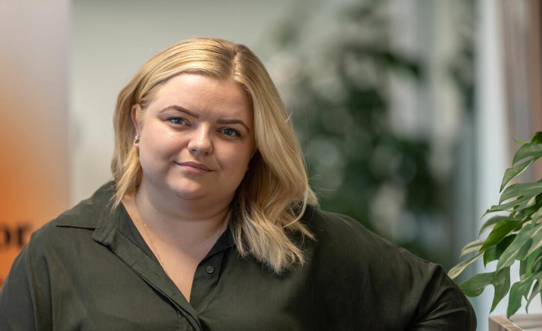 Pedagogstudentenes leder Elise Håkull Klungtveit.