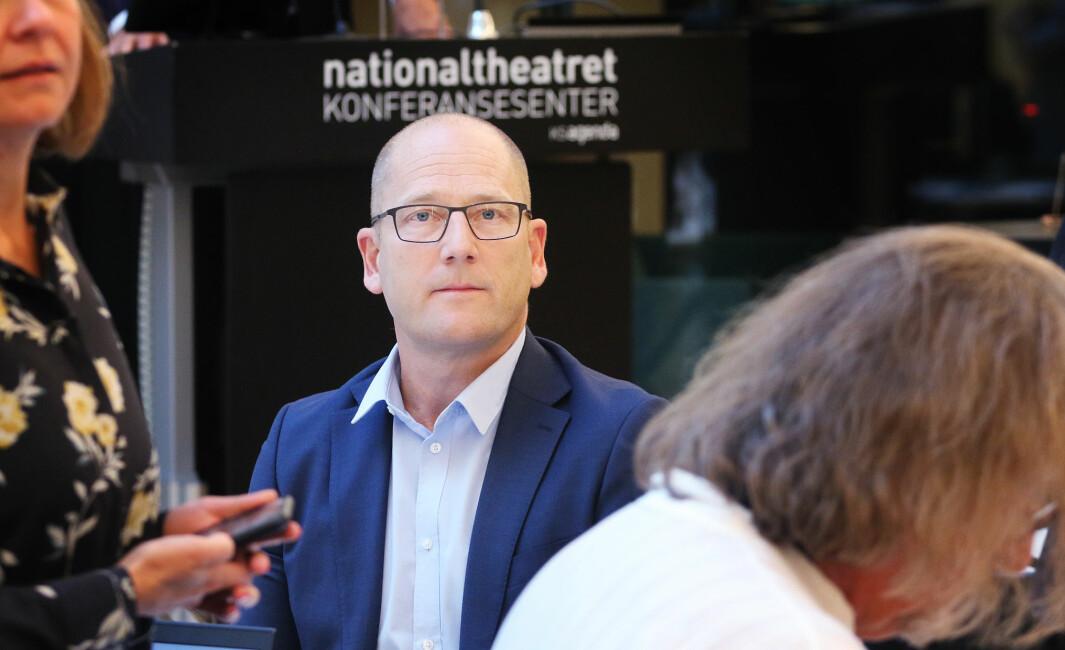 Leder i Utdanningsforbundet, Steffen Handal, før årets tariffoppgjør.