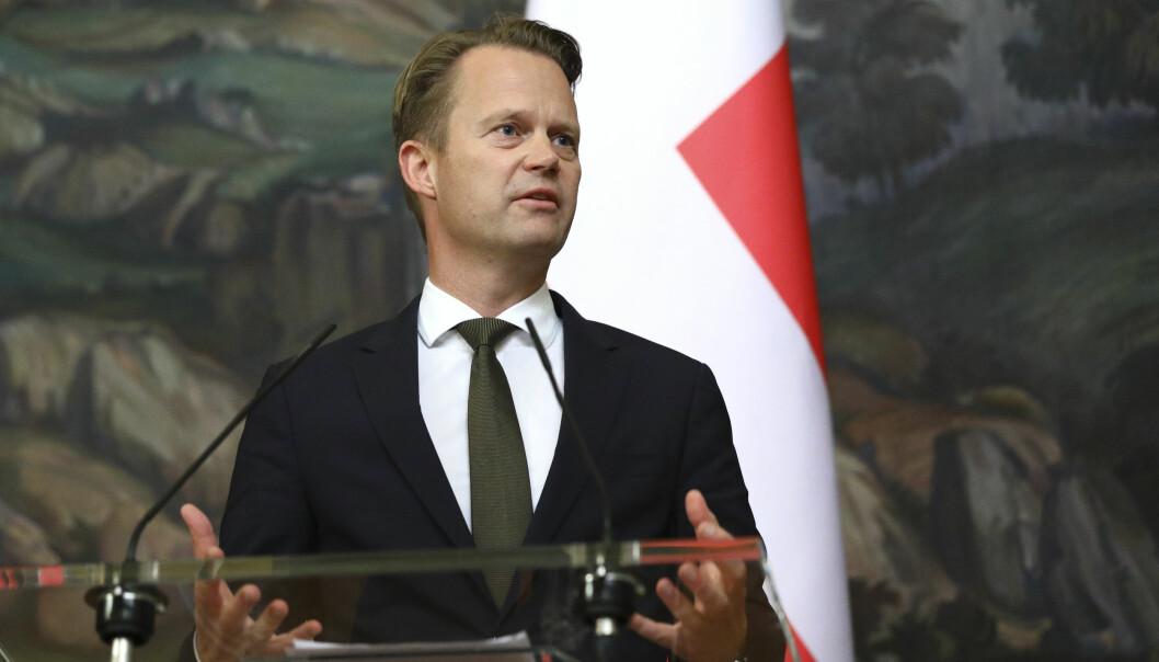 Danmarks utenriksminister Jeppe Kofod.