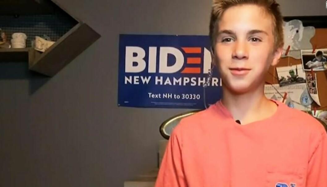 Kronikkforfatteren tror Brayden Harrington kan være et forbilde for andre ungdommer som stammer.