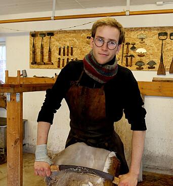 Frode Julius Jansson fikk ideen om garveryrket da han gikk på folkehøgskole.