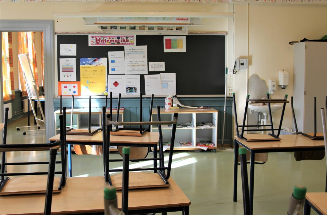 I mars stengte skolene. Det vil trolig ikke skje igjen, ifølge kunnskapsminister Guri Melby.