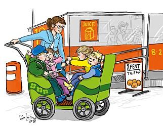 En vogn med fire seter er et godt sted for de yngste barna å oppleve fellesskap