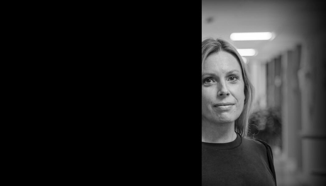 Nøtterøy, Vestfold og Telemark, 02.11.2020. Lærer Kjersti Heldaas ved Nøtterøy videregående skole har tidligere brukt karikaturtegninger av profeten Muhammed i sin undervisning om religion og ytringsfrihet. Nå tør hun ikke lenger å vise disse tegningene.