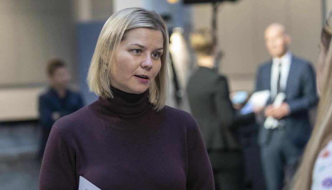 Kunnskaps- og integreringsminister Guri Melby (V) vil ha en ny type kartleggingsprøver.