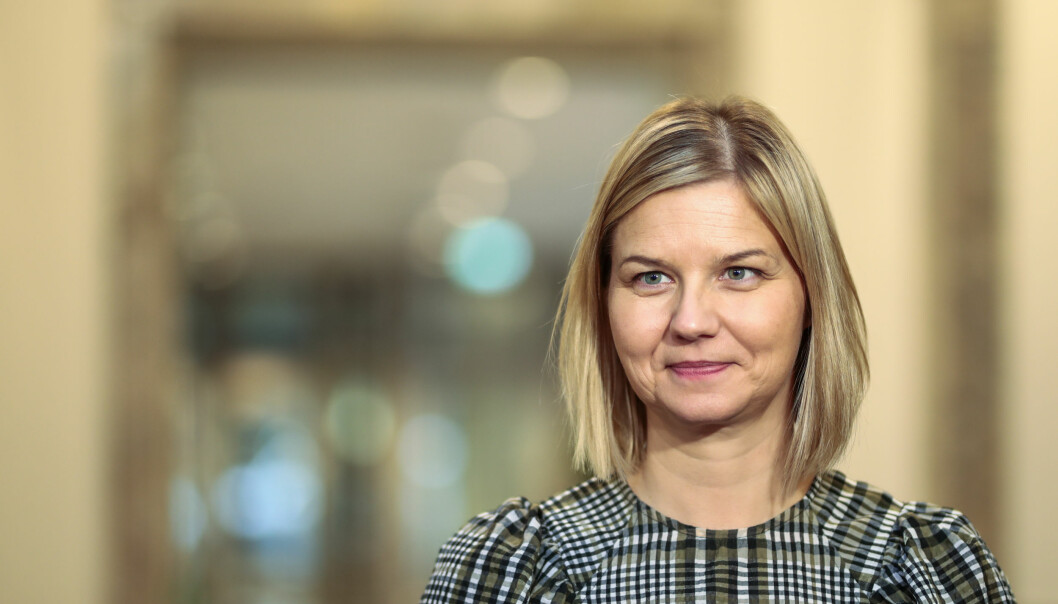 Oslo 20201029.  Kunnskapsminister Guri Melby under en pressekonferanse om koronasituasjonen. Foto: Jil Yngland / NTB