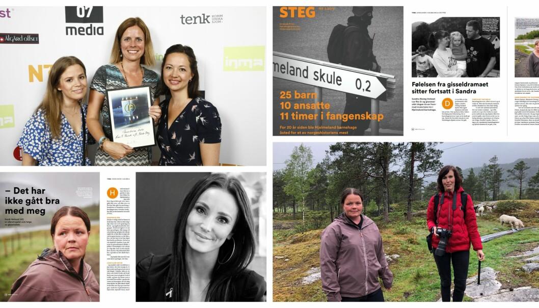 Tidsskriftet Første steg fikk to hederlige omtaler for sin dokumentar om gisseldramaet i Hjelmeland barnehage 20 år etter i kategorien gravesak og forside.