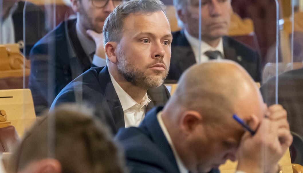SV-leder Audun Lysbakken krever svar fra Guri Melby.