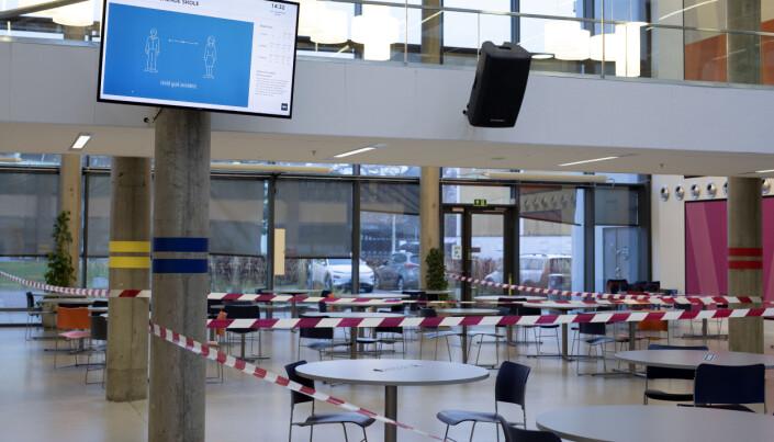 Kantina i Drammen videregående er også på rødt nivå