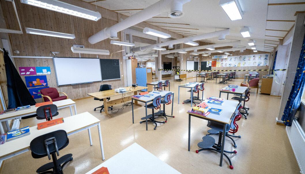 Opposisjonen fremmer 16 forslag som skal sikre flere kvalifiserte lærere i skolen. Her fra Vikåsen skole i Trondheim.