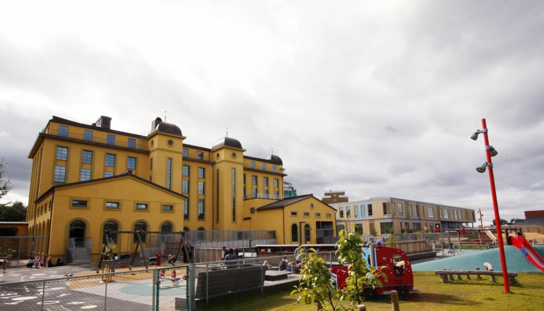 Foreldre til barn i Margarinfabrikken barnehage i Oslo oppfordres til å bruke munnbind når barna leveres og hentes.