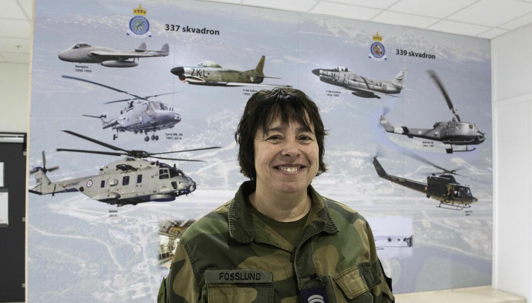 Merete Fosslund startet som lærling på Bardufoss flystasjon i 1991. Siden har flymekanikeren klatret i gradene, og nå tar hun seg av nye lærlinger.