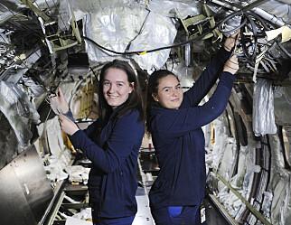 Trine-Lise og Sol Vilde blir flyteknikere