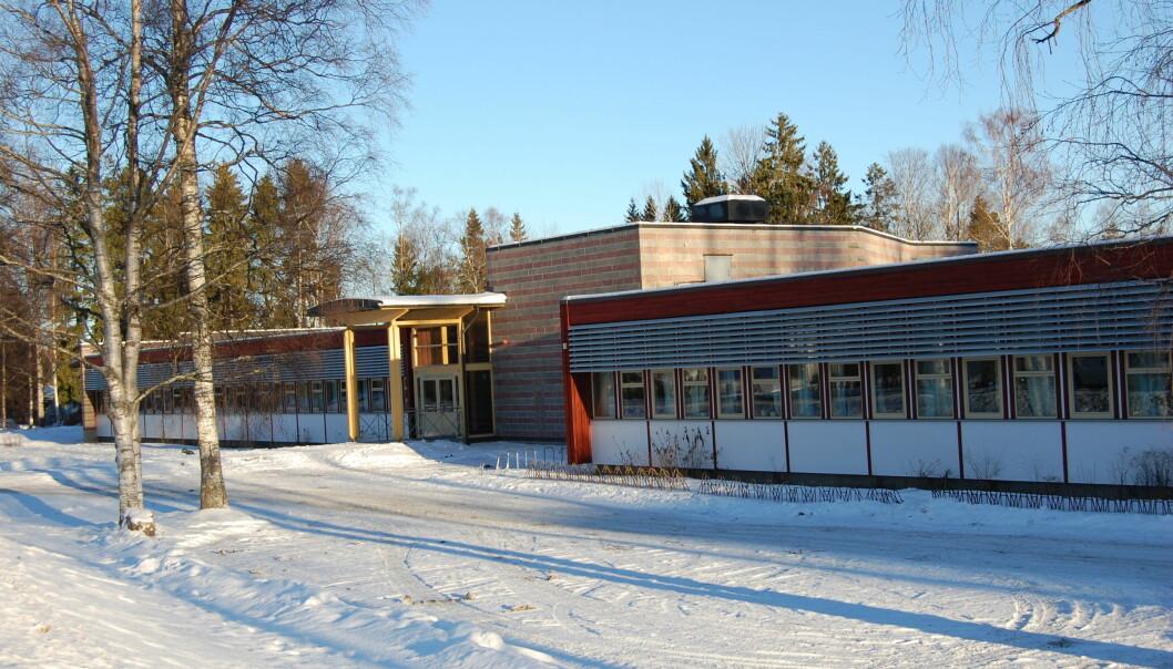 Skolene og barnehagene i Nordre Follo, Oslos nabokokommune i sør, stenger helt fram til onsdag. På bildet: Sofiemyr skole.