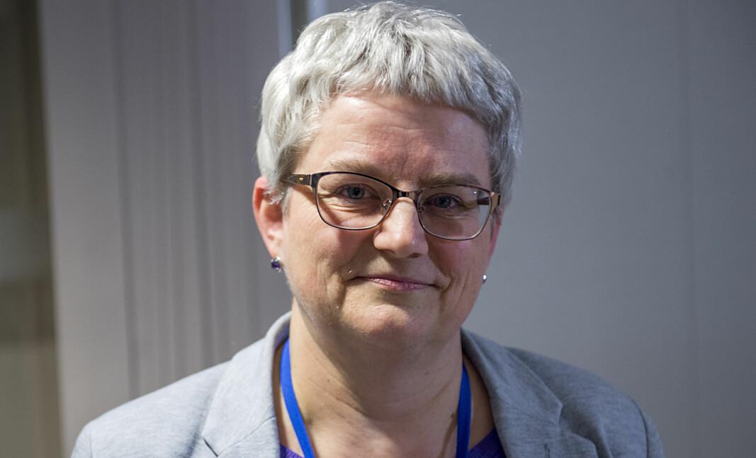 Etatsdirektør Brita Øygard orienterer pressen om siste utvikling av koronavirus i Bergen.