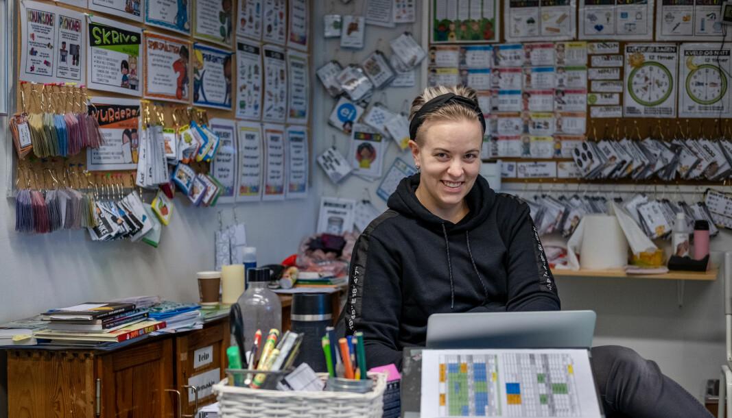 – Skolen har kommet hjem i sofaen til folk, sier lærer og spesialpedagog Stine Hatt Fossli om pandemitiden.