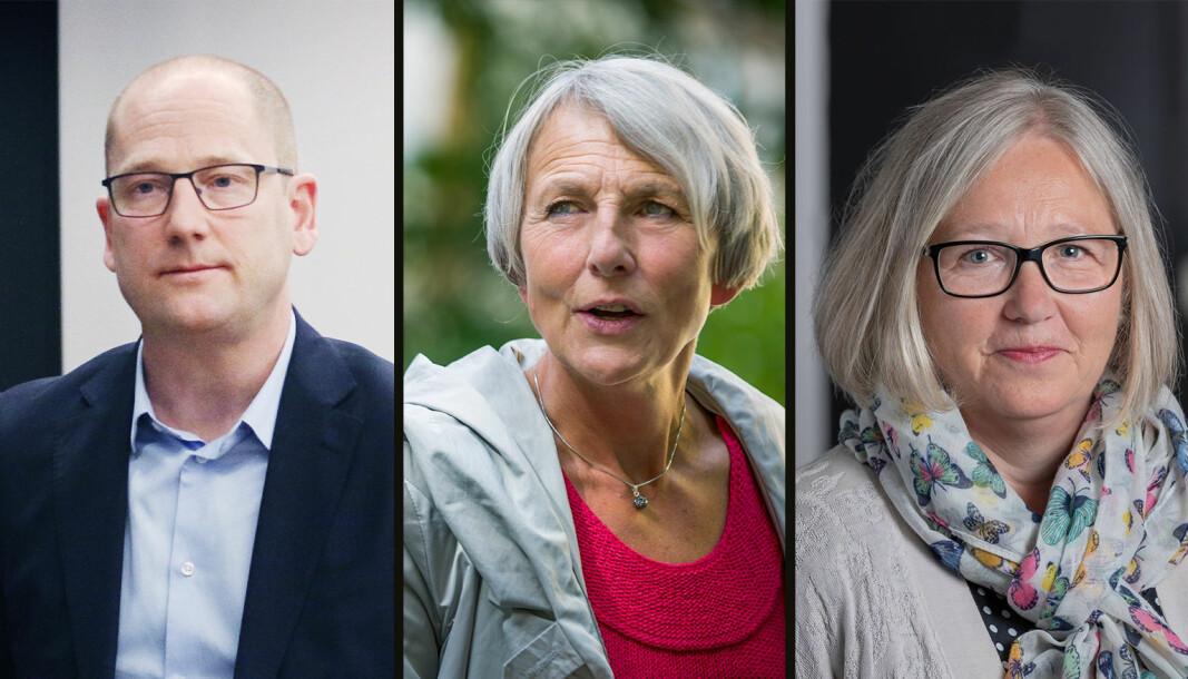 Leder i Utdanningsforbundet, Steffen Handal, leder i Skolenes Landsforbund, Anne Finborud og leder i Lektorlaget, Rita Helgesen krever alle en ny gjennomgang av smitteverntiltakene i skoler og barnehager.
