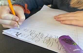 Elevene ble dårligere til å skrive på hjemmeskolen