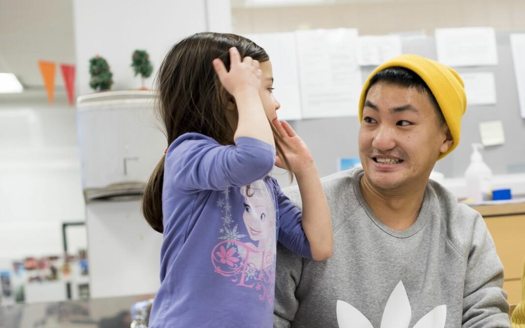 Frank Aleksander Bræin, tidligere leder for pedagogstudentene, er utdannet barnehagelærer. Her fotografert i forbindelse med en artikkel i Utdanning noen år tilbake.