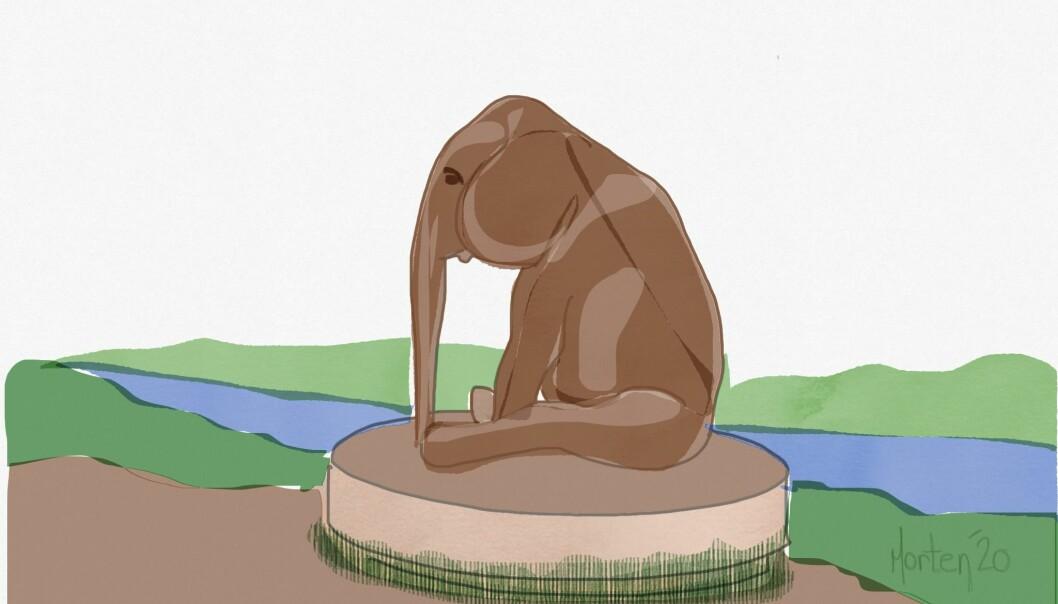Det er mange som har kjent på savnet av en venn det siste året. Da er det godt de kan klemme en elefant på Sagene, sier seniorrådgiver Morten Solheim i Utdanningsforbundet.