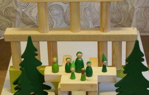 Lag hjemmelagde treklosser til barna