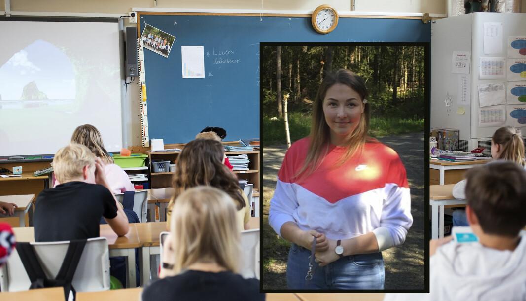 Ida Bredahl (innfelt) vil ha studert i nærmere ni år før hun blir kvalifisert lærer.