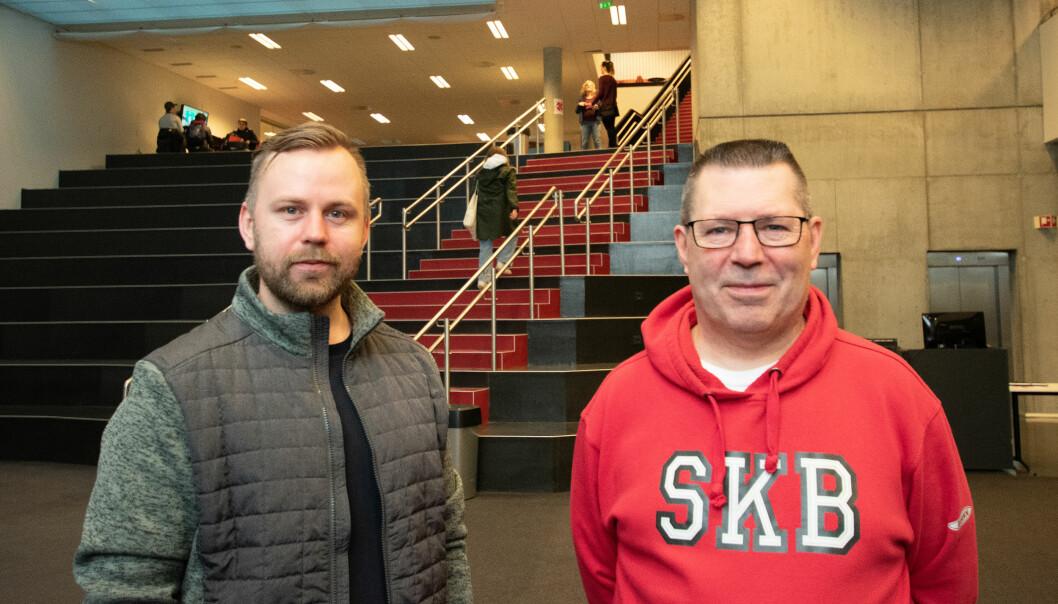 Spesialkonsulent Jan Fredrik Oddekalv og sosialpedagog Bjørn Madsen advarer mot økende bruk av cannabis blant elever i videregående.