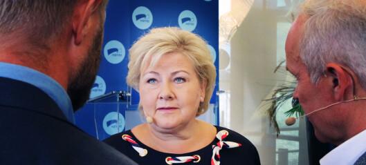 Erna Solberg: «Det er kommunenes ansvar at pengene kommer helt ut til barnehager og skoler»