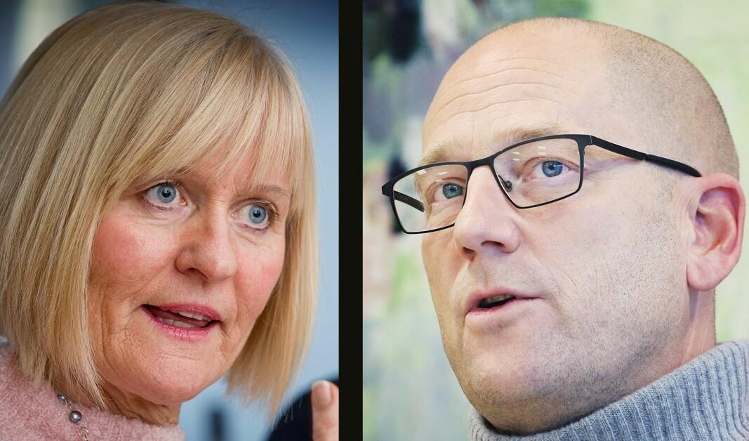Unio-leder Ragnhild Lied og leder i Utdanningsforbundet Steffen Handal.