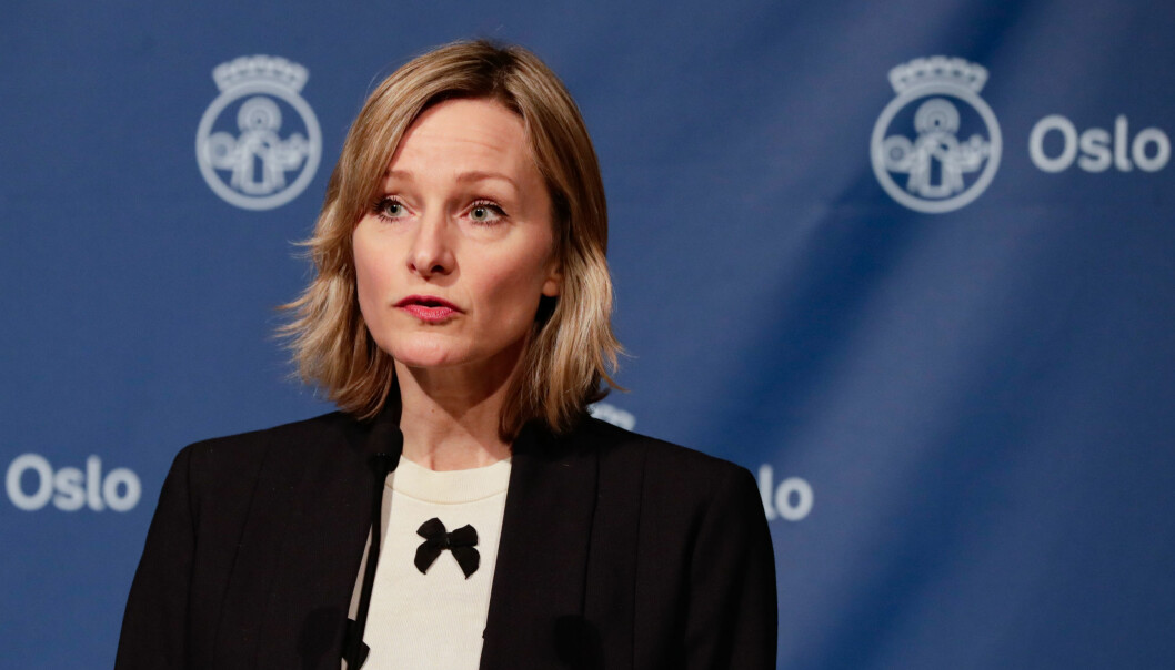 Skolebyråd Inga Marte Thorkildsen orienterer om koronasituasjonen og hvilke tiltak som skal gjelde fremover i Oslo.