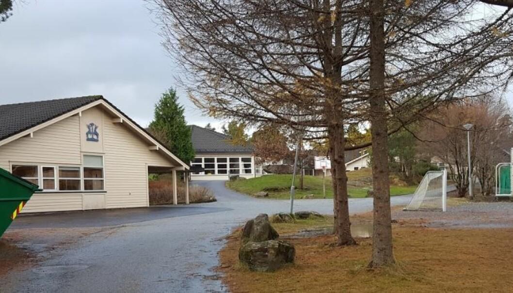 Fra tirsdag får alle elever i Stord, som her ved Tjødnalio skule, hjemmeundervisning.