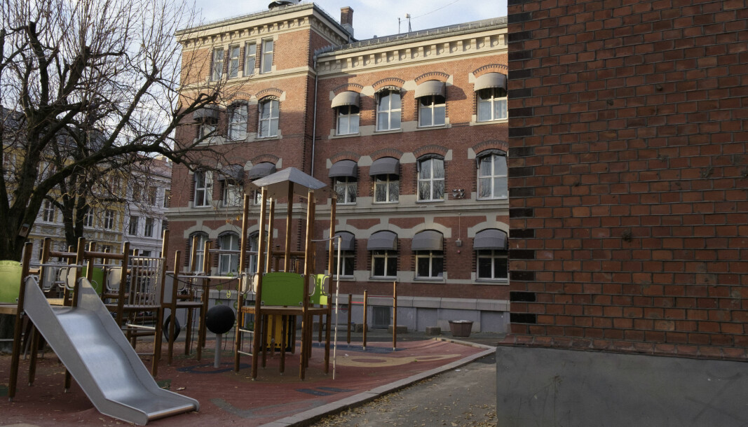 Grünerløkka barneskole er blant de skolene der elever fra 5. - 7. trinn må ha hjemmeskole frem til påske.
