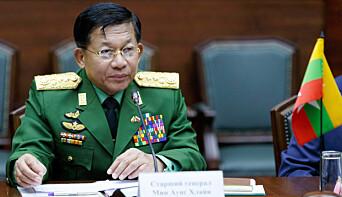 Min Aung Hlaing er øverste sjef for de væpnede styrker og leder for det nye militærstyret i Myanmar.