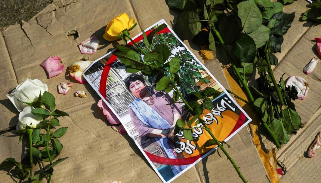 Læreren Tin Nwe Yi er en av over 50 mennesker som er drept av sikkerhetsstyrker under demonstrasjoner mot militærkuppet.