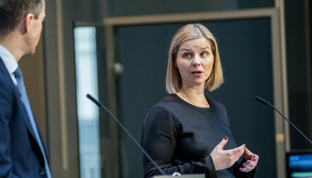 Kunnskaps- og integreringsminister Guri Melby og departementet har ikke planer om å undersøke kunnskapshull etter korona-pandemien.