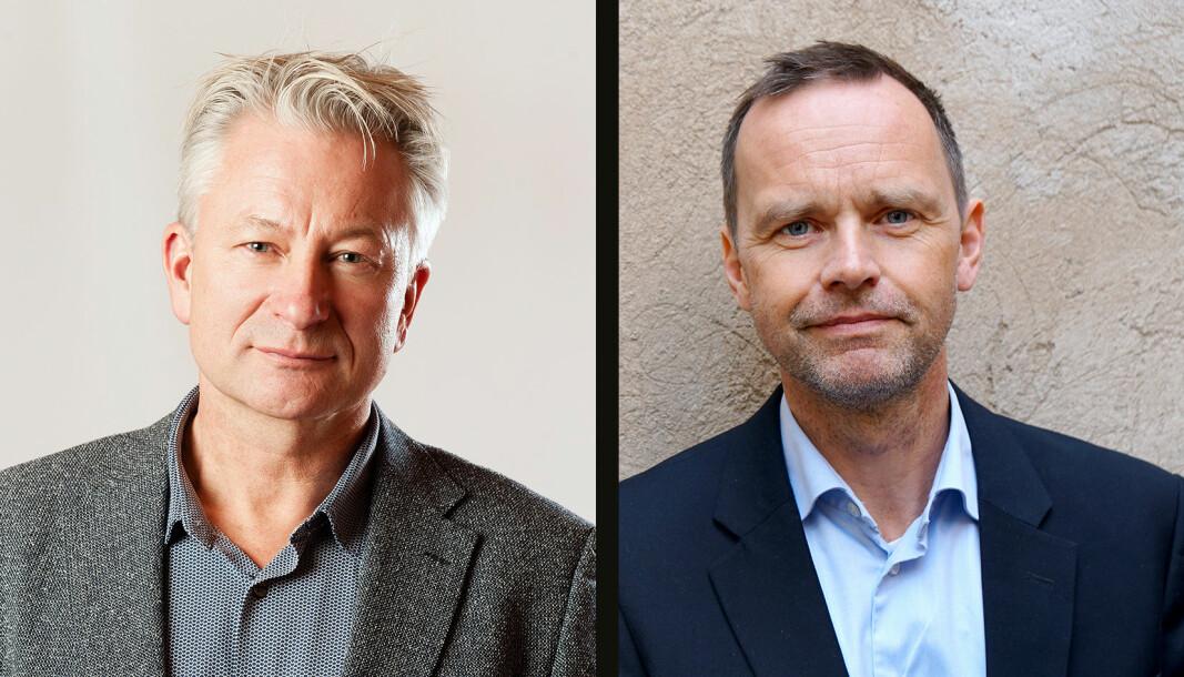 Sentralstyremedlem i Utdanningsforbundet, Tormod Korpås (t.v.) og Thom Jambak.