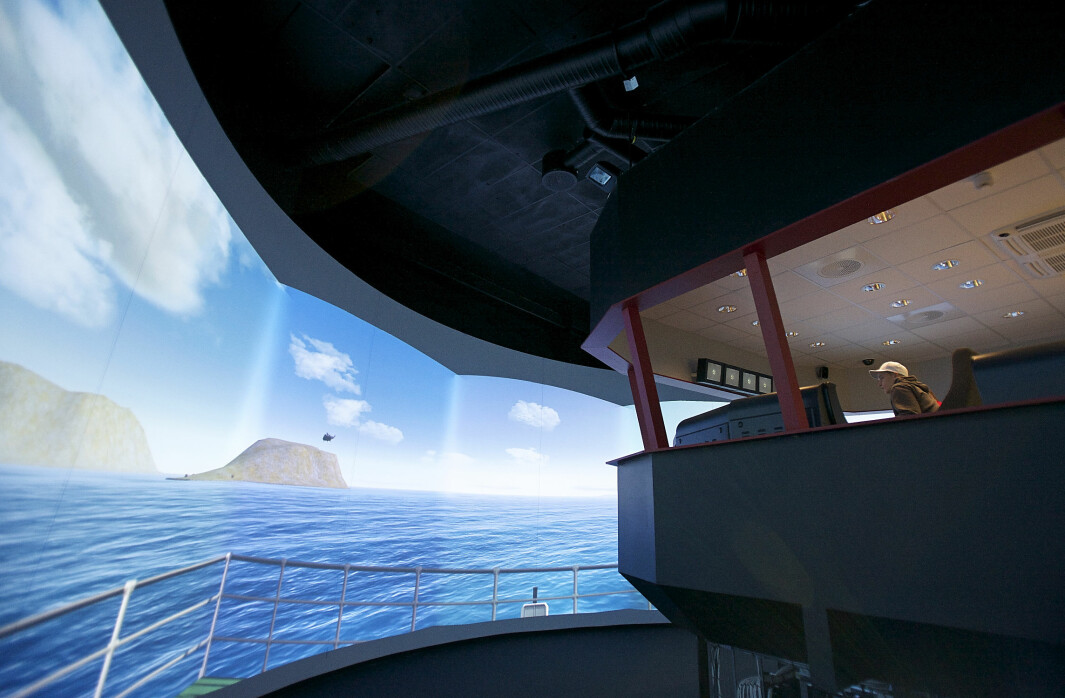 Bildet er av den avanserte simulatoren på Nordkapp maritime fagskole og videregående skole.