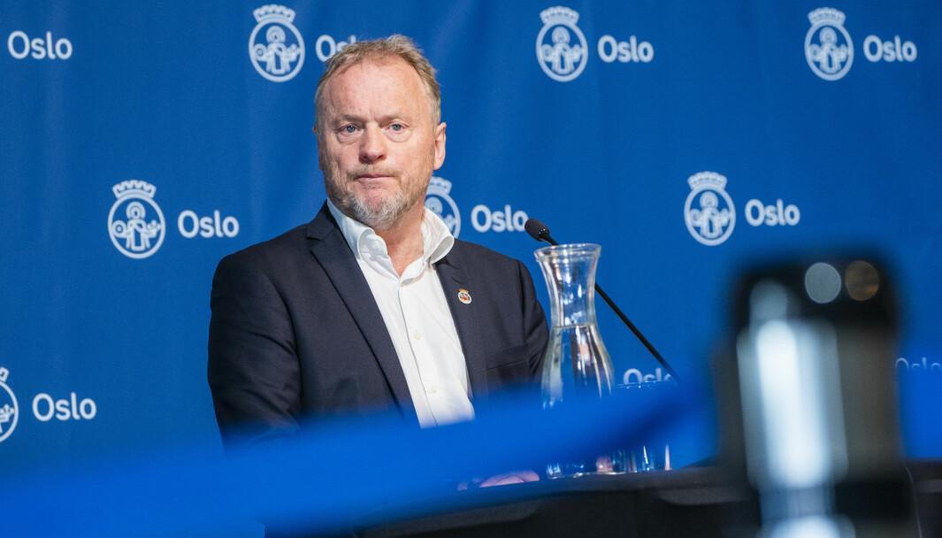 Byrådsleder Raymond Johansen (Ap) orienterer onsdag om koronasituasjonen og hvilke tiltak som skal gjelde fremover i Oslo.
