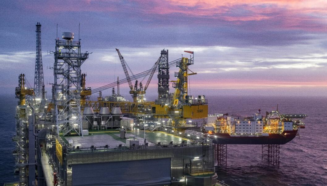 Oversiktsbilde Johan Sverdrup feltsenter, det tredje største oljefeltet på norsk sokkel.